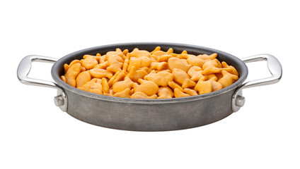 Goldfish Crackers in a oval pan