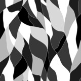 black and white abstract wavy pattern - 63963229