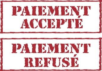 tampon paiement accepté et refusé
