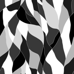 black and white abstract wavy pattern