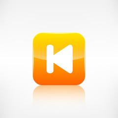 Back track web icon.Media player.