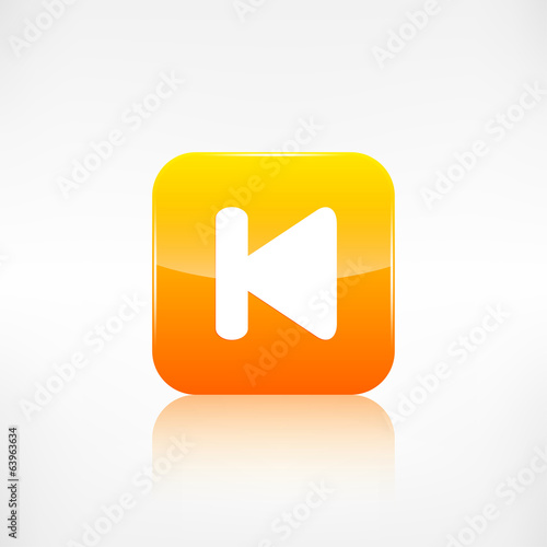Back track web icon.Media player.