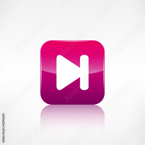 Next track web icon.Media player.