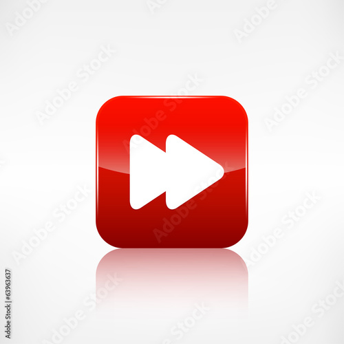 Forward or skip icon. Media player.