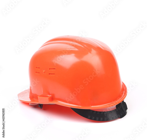 Orange hard hat.