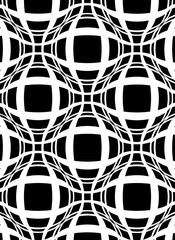 Squares background with refraction sphere effect