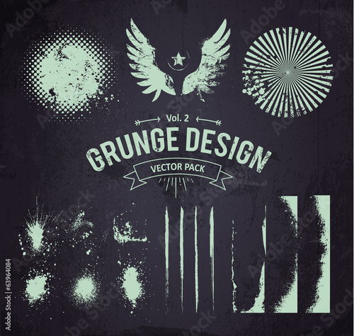 Grunge Design Elements Set 2