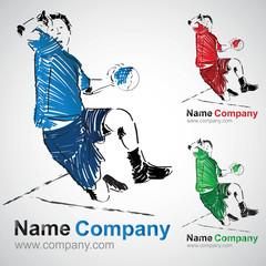 hand hanballeur handball joueur club logo sport