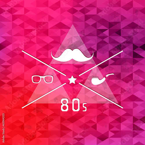 Triangle retro hipster background.