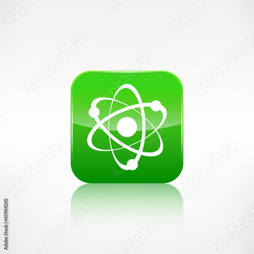 Molecule, atom icon.Application button.