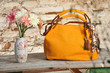 Yellow fashion handbag