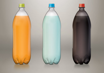 1,5 L transparent plastic bottle for new design