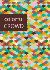 stylized colorful crowd, symbol of tolerance