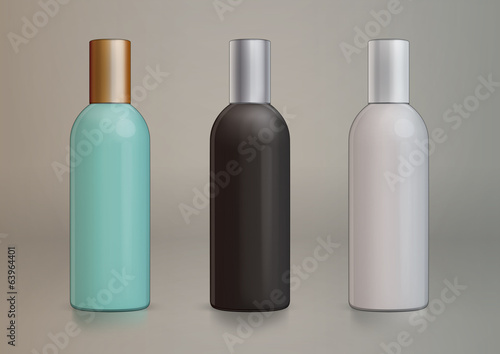 Plastic tubular bottle template for new design