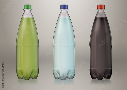 1 L transparent plastic bottle for new design