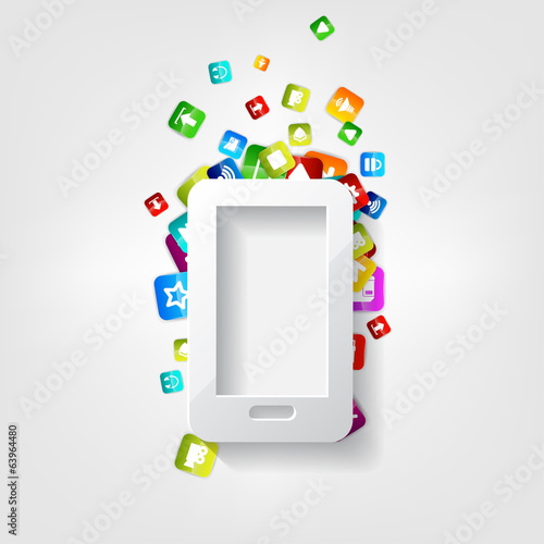 Smartphone Icon. Cellphone. Application button.