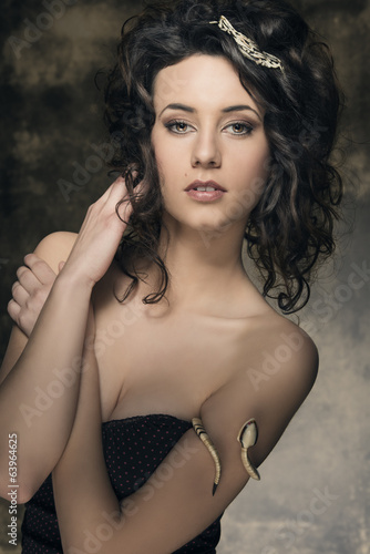 cool sensual brunette woman