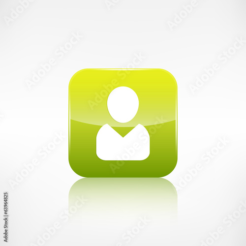 Person icon. Application button.