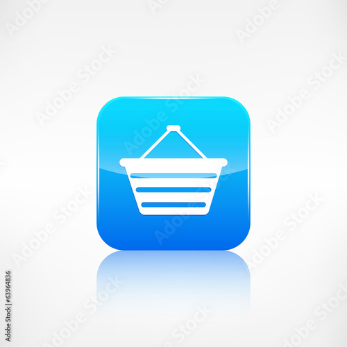 Shopping basket icon. Application button.
