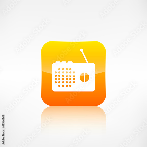 Radio web icon. Application button.