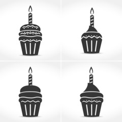 Birthday Cupcakes with Candles