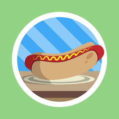 Delicious Hot Dog Illustration