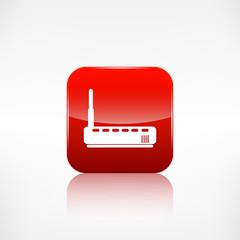 Wi fi router web icon. Application button.