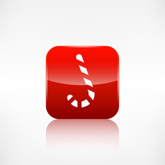 Candy cane web icon. Application button.