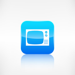 Retro tv icon. Application button.