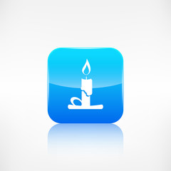 Candle web icon. Application button.
