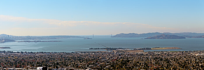 The Panorama from Berkeley Hills on Golden Gate Bridge