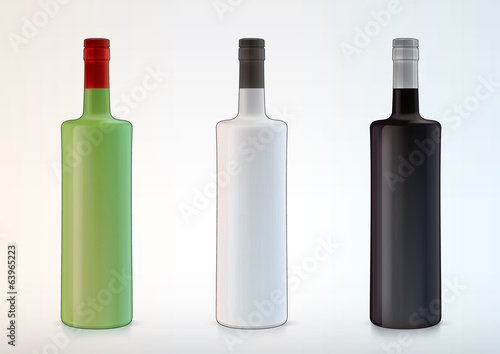 vector blank bottles for new design liquor or vodka