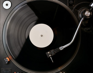 Vinyl Record on the Player