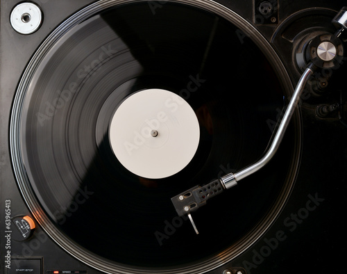 canvas print picture Vinyl Record on the Player