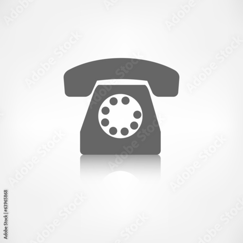 Retro telephone web icon