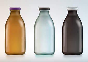 blank glass bottle for new design milk or juice