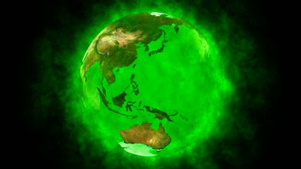 Beauty and green planet Earth - animation