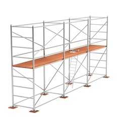 realistic 3d render of scaffolding