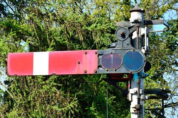 Old fashioned rail signal
