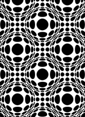 Circles background with refraction sphere effect