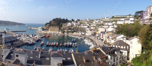 View of Luarca in Asturias, Spain