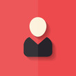 Person icon. Flat design.