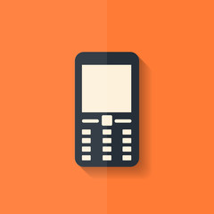 Mobile phone icon. Flat design.