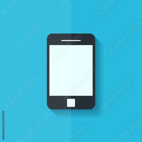 Smartphone icon. Tablet symbol. Flat design.
