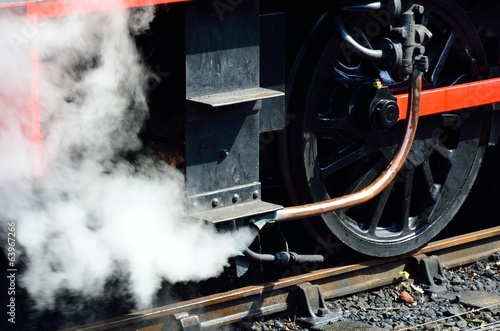 Steam from train pipe