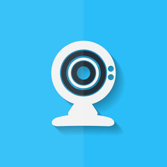 Web camera icon. Flat design.