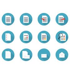 書類・メールのフラットデザインアイコン素材