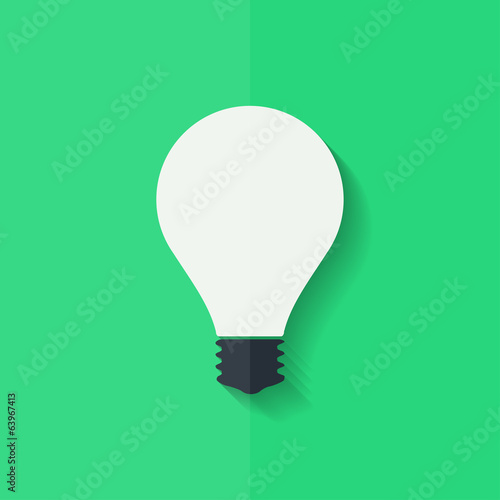 Light bulb icon. Flat design.