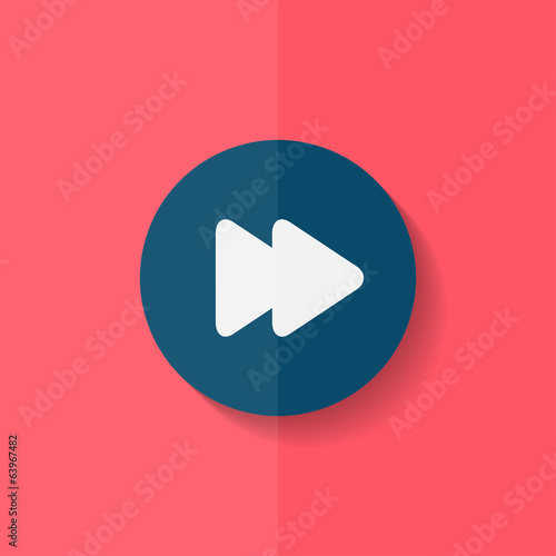 Forward or skip icon. Media player. Flat design.