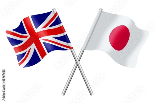 Flags: United Kingdom and Japan